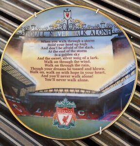 YOU'LL NEVER WALK ALONE. Liverpool Greats. Plate. Danbury Mint 2003