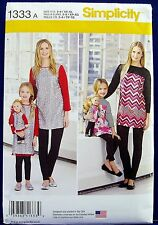 """Simplicity Girls'/Misses'/ Doll Tunic Leggings Sewing Pattern Child 18"""" 1333"""
