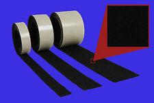 2x 1 Meter Filzband, 10 mm breit, 2,0 mm stark, schwarz, selbstklebender Filz