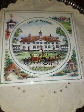 Mount Vernon Tile Trivet, Vintage Souvenir, New Old Stock