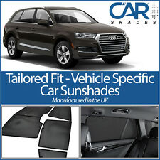 AUDI Q7 5DR 2015on UV CAR SHADES WINDOW SUN BLINDS PRIVACY GLASS TINT BLACK DARK