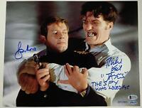 ROGER MOORE RICHARD KIEL Signed James Bond 11x14 Photo 001/007 Beckett BAS COA