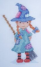 CL119 Little Minx - Witch Counted Cross Stitch Chart by Genny Haines