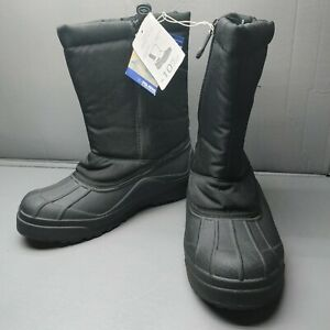 Polaris Snow Rain Waterproof Thinsulate Insulation Black Boots Adult Size 7