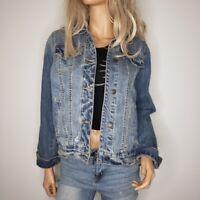 Abercrombie & Fitch Jean Denim Trucker Jacket 100%Cotton Womens Size Medium Blue
