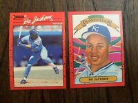 1990 DONRUSS BO JACKSON (1 LOT 2 CARDS) #1 DIAMOND KINGS, #61..FREE SHIPPING