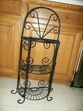"Home Interior  Metal Black 3 Tier Shelf Wall Mount 31.75"" x 13.25"" x 6 1/4"""