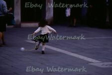 Adorable Child Playing in Streets of Venice Austria 1968 Kodak 35mm Slide