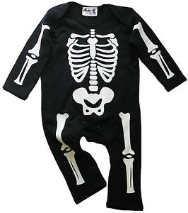 Baby Skeleton Romper Suit Halloween Funny Costume Play suit Clothes