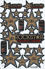 New Rockstar Energy Motocross Racing Graphic stickers/decals. 1 sheet (st184)