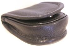 Quality Full Grain Cow Hide Leather Coin Holder. Colour: Black. Style No: 11028.