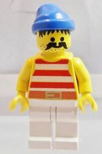 LEGO: MINIFIG: PIRATES: Pirate in Red & White Shirt, Blue Hat