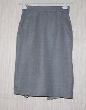 MAX MARA Italy Gray Tweed Virgin Wool KNEE LENGTH LINED SKIRT SIZE:6 SEXY