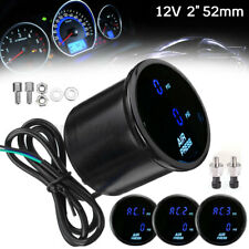 "2"" 52mm Car Dual Digital Air Pressure Gauge Air Suspension Meter Blue LED Sensor"