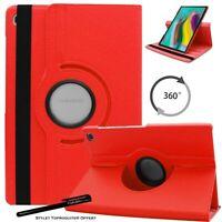 Housse Etui Rouge pour Samsung Galaxy Tab S5e T720 T725 Support Rotatif 360°
