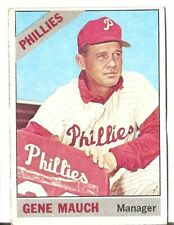 1966 Topps #411 Gene Mauch Philadelphia Phillies Baseball Card In VG Condition