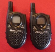Midland F-15 Pair of Black Walkie Talkies - Unested - Will need a charger