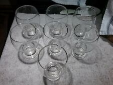 14 OZ CLEAR GLASS WATER/JUICE GLASSES (SET OF 7) EXCELLENT PRE-OWNED CONDITION