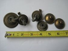 "ANTIQUE KNOBS PULLS Dresser Drawer 6 Brass Parts PATINA 1""-2"" Never Cleaned #C10"