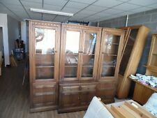 DELIVERY INCLUDED: Ercol Mural 4 Piece Display Cabinet Set - Golden Dawn