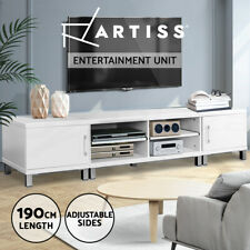 Artiss TV Cabinet Entertainment Unit Stand Storage 190CM Lowline White