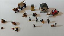 Schönes Konvolut alte Preiser Holzfiguren und Zubehör - siehe Bilder