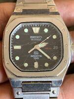 Vintage SEIKO Royal Oak SPORTS 100 Men's Watch 8229-5019 1980's