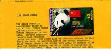 AMERIQUE TELECARTE / PHONECARD .. USA 3$ ACI.COM PANDA CHINE 1993 NEUVE+ENCART