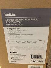 Belkin F1DN104C-3-Advanced Secure DVI-I KVM Switch;4-Port Plus, PP3.0 (NIB)