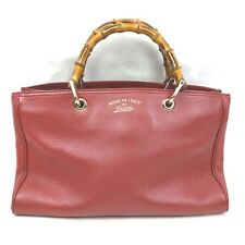 Gucci Hand Bag  Reds Leather 1508144
