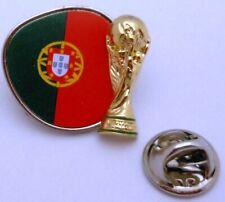 Pin / Anstecker + Team Portugal + Pokal + FIFA Fußball WM 2014 in Brasilien #116