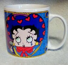 EUC Betty Boop Cowgirl Mug 1995 Sakura Roping Crying Singing Coffee Cup