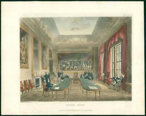 1809 Antique Print - London TRINITY HOUSE Corporation Ackermann Microcosm (111)
