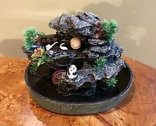 Indoor Water Fountain with Design of Miniature Landscape, Panda, and Swan