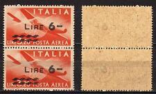 #786 - Repubblica - 6 lire posta aerea, 1947 - Nuovi (** MNH) / Varietà
