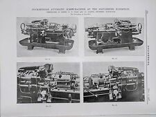4 Spindle Automatic Screw Machine: Manchester: 1908 Engineering Magazine Print