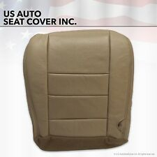 2002 - 07 Ford F250 Lariat Front Driver Bottom Leather Seat Cover TAN Perforated