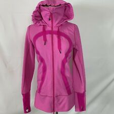 Lululemon Women's Pink Full Zip Hoodie Jacket Thumbhole Size 6
