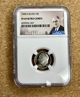1998-S SILVER ROOSEVELT DIME 10C NGC PF69 ULTRA CAMEO Proof