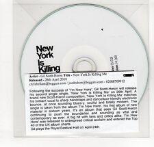 (GP403) Gil Scott Heron, New York Is Killing Me - 2010 DJ CD