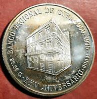 Caribe 10 Pesos 1975 plata 25 Aniversario Banco Nacional @ PROOF @