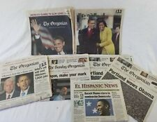 Lot Of Oregonian Newspapers Covering Barack Obama Presidential Election