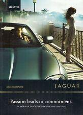 JAGUAR Approvato AUTO USATE 2008 UK Opuscolo Vendite sul mercato X-Type S-Type XF XJ XK