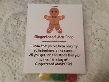 New Christmas Gingerbread Man Poop Stocking Stuffer Gum Drop Candy Gag Gift