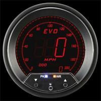 Prosport Universal 85mm EVO Speedometer with Peak/Warning 0-200 MPH/KPH