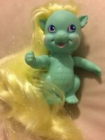 Lady Lovely Locks, Bouncy Curl Dragon Blue 1986 Vintage 80's Toy Long Soft Hair