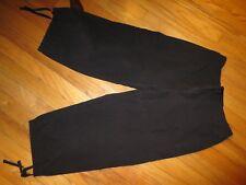 Women's Danskin Now Black Cropped Pants Part Elastic Waist Size 8/10 VGC