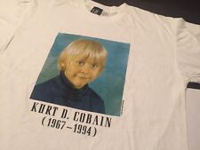 Nirvana Kurt Cobain T Shirt  KIDS PORTRAIT RIP vintage tour concert XL in utero