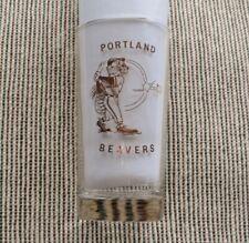 >orig./Gem!!! 1960's/70's PCL Portland Beavers **BASEBALL GLASS** with Mascot