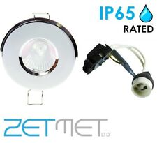 Polished Chrome Outdoor Soffit LED GU10 Recessed Downlight Spotlight IP65 Light